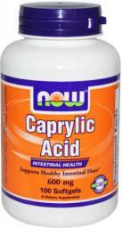 NOW Foods Caprylic Acid 600mg 100 tabl.