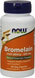 NOW Foods Bromelain 60 kapsułek