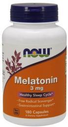 NOW Foods Melatonin 3mg 60 kapsułek