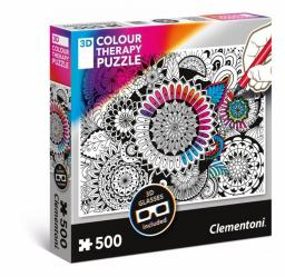 Clementoni Puzzle 3D Color Therapy - Kwiaty