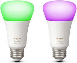 Philips Hue 10W, A19, E27, podwójne opakowanie