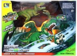 MEGA CREATIVE Tor samochodowy z akcesoriami dinozaury 29elementów (256056)