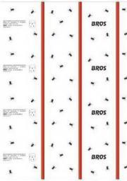 Bros Lep płaski na muchy