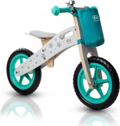 KinderKraft Rowerek biegowy drewniany  RUNNER STARS  turkusowy