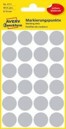 Avery Zweckform Etykiety czarne kółka do zaznaczania 18mm (3171)