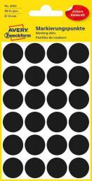 Avery Zweckform Etykiety czarne kółka do zaznaczania 18mm (3003)