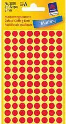 Avery Zweckform Etykiety czerwone kółka do zaznaczania 8mm (3010)