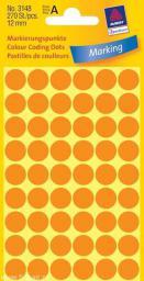 Avery Zweckform Etykiety kółka do zaznaczania 12mm, pomarańczowe odblaskowe (3148)