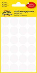 Avery Zweckform Etykiety białe kółka do zaznaczania 18mm (3170)