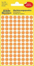 Avery Zweckform Etykiety kółka do zaznaczania 8mm, pomarańczowe odblaskowe (3178)