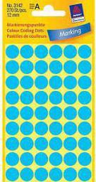 Avery Zweckform Etykiety niebieskie kółka do zaznaczania 12mm (3142)