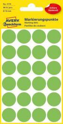 Avery Zweckform Etykiety kółka do zaznaczania 18mm, zielone odblaskowe (3174)