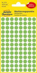 Avery Zweckform Etykiety kółka do zaznaczania 8mm, zielone odblaskowe (3179)