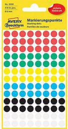 Avery Zweckform Etykiety kółka do zaznaczania 8mm, mix kolorów (3090)