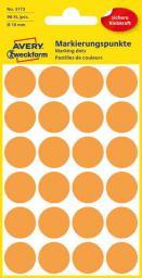 Avery Zweckform Etykiety kółka do zaznaczania 18mm, pomarańczowe odblaskowe (3173)