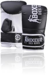 Spokey Rękawice bokserskie BXT-5140 czarno-białe r. L