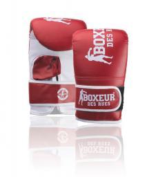 Spokey Rękawice bokserskie BXT-5140 czerwono-białe r. S