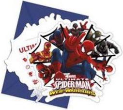 GoDan Zaproszenia Spiderman Ultimate 6szt.