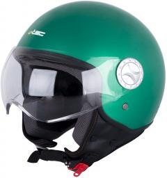 W-TEC Kask motocyklowy na skuter otwarty W-TEC FS-701G Kolor Zielony, Rozmiar XS (53-54) - 15356-XS