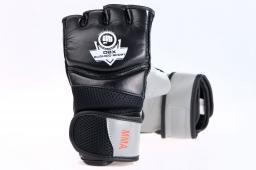 DBX BUSHIDO Rękawice skórzane MMA czarno-szare r. M (BUSHIDO DBD-MMA-2  - M)
