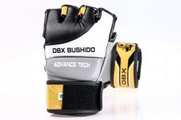 DBX BUSHIDO Rękawice skórzane MMA biało-czarne r. M (BUSHIDO - E1V2 - M)