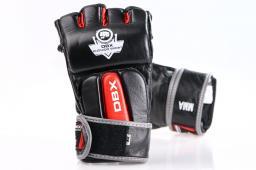 DBX BUSHIDO Rękawice skórzane do MMA Bushido czarno-czerwone r. M (e1v4-M)
