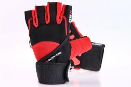 DBX BUSHIDO Rękawiczki Na Siłownię Do Ćwiczeń Z Długim Rzepem I Systemem Grip-x  M (WG-161)