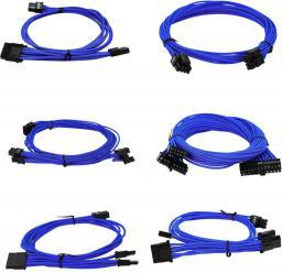 EVGA Zestaw kabli do G2/G3/P2/T2, 550-650W, Jasnoniebieskie (100-G2-06LL-B9)