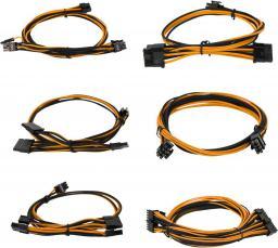 EVGA Zestaw kabli do G2/G3/P2/T2, 550-650W, Czarno-pomarańczowe (100-G2-06KO-B9)