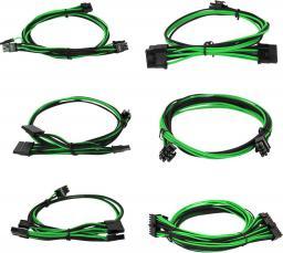 EVGA Zestaw kabli do G2/G3/P2/T2, 550-650W, Czarno-zielone (100-G2-06KG-B9)