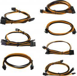EVGA Zestaw kabli do G2/G3/P2/T2, 750-850W, Czarno-pomarańczowe (100-G2-08KO-B9)