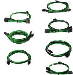 EVGA Zestaw kabli do G2/G3/P2/T2, 1000-1300W, Czarno-zielone (100-G2-13KG-B9)