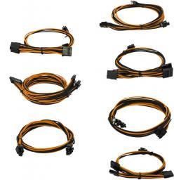 EVGA Zestaw kabli do G2/G3/P2/T2, 1000-1300W, Czarno-pomarańczowe (100-G2-13KO-B9)