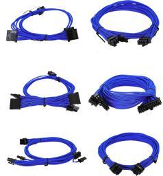 EVGA Zestaw kabli do G2/G3/P2/T2, 1000-1300W, Jasnoniebieskie (100-G2-13LL-B9)