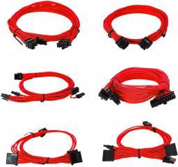 EVGA Zestaw kabli do G2/G3/P2/T2, 1000-1300W, Czerwone (100-G2-13RR-B9)
