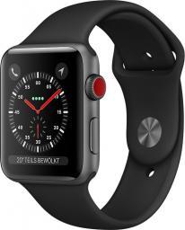 Smartwatch Apple Watch Series 3 Cell 38 mm GPS+4G Czarno-szary  (MQKG2ZD/A)