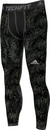 25196095c52b04 Adidas Legginsy Techfit Base Shards Graphic zielone r. XL (S94430) w ...