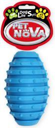 PET NOVA TPR Rugbyball Blue 10cm