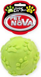 PET NOVA TPR Soundball Yellow 6cm