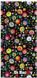 DRBACTY Ręcznik szybkoschnący Polygiene Dr. Bacty Folk r. L 60x130cm
