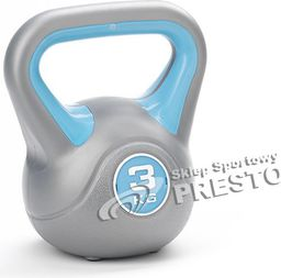 York Fitness Kettlebell 3 kg srebrno-niebieski