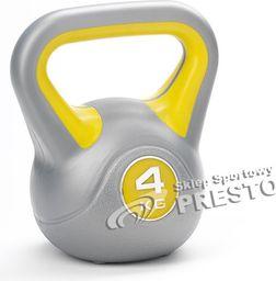 York Fitness Kettlebell 4 kg srebrno-żółty