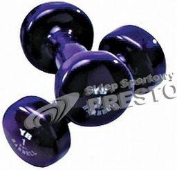 York Fitness Hantla winylowa VDB 1 kg niebieska