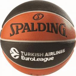 Spalding Piłka do koszykówki EUROLEAGUE TF-500 IN/OUT pomarańczowy/czarny r.7 (74539Z)