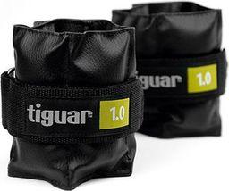 Tiguar Obciążniki na rzepy czarne 2x1kg (TI-OB00010)