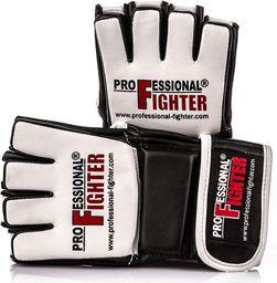 Professional Fighter Rękawice do MMA F2 biało-czarne r. XL (03177)