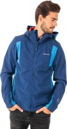 Hi-tec Kurtka męska Softshell Fano Blue print/Victoria blue/High risk red r. M