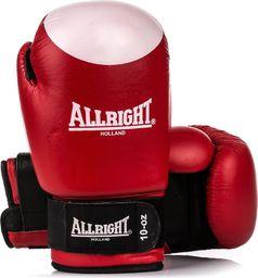 Allright Rękawice bokserskie SBRS czerwono-białe r. 8
