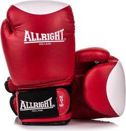 Allright Rękawice bokserskie SBRP czerwono-białe r. 12