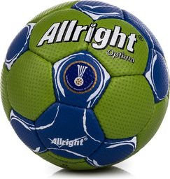 Allright Piłka ręczna Optima Mini zielono-niebieska r. 0